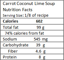 carrot-coconut-lime-soup-nutrition-facts